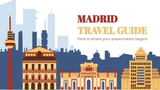 Madrid Travel Guide presentation template
