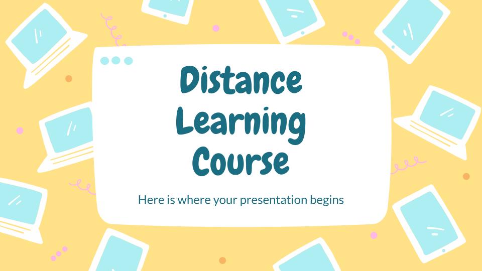 Modelo de apresentação Curso à distância