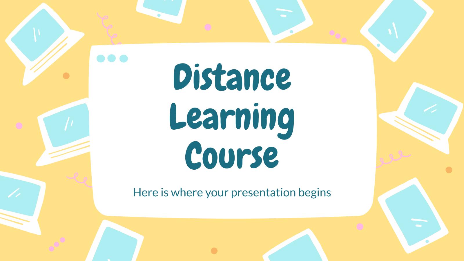 Cours de formation à distance : Modèles de présentation