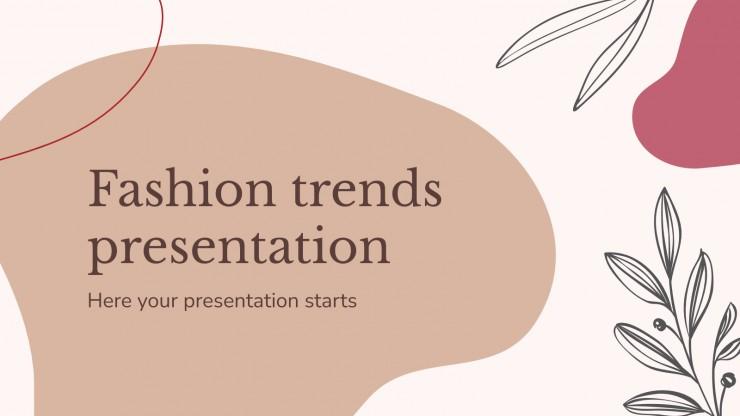 Modelo de apresentação Tendências da moda