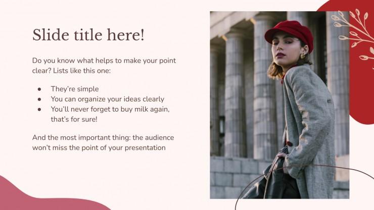 Fashion trends presentation presentation template