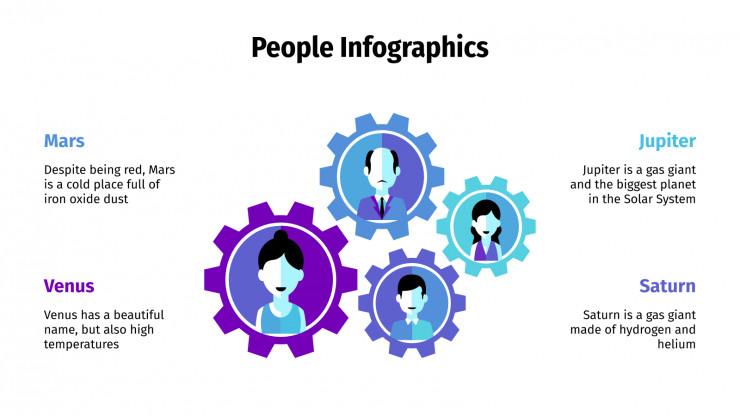 People Infographics presentation template