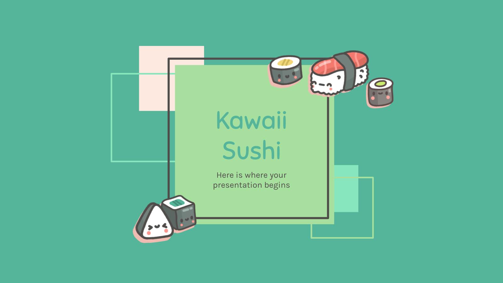 Restaurant de sushi Kawaii : Modèles de présentation