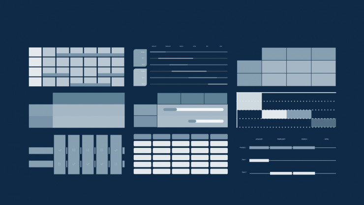 Modelo de apresentação Calendário de negócios