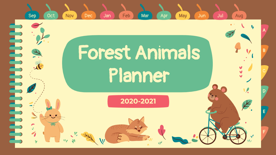 Forest Animals Planner presentation template