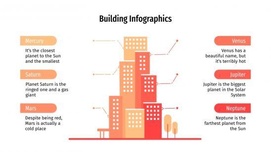 Plantilla de presentación Infografías de edificios