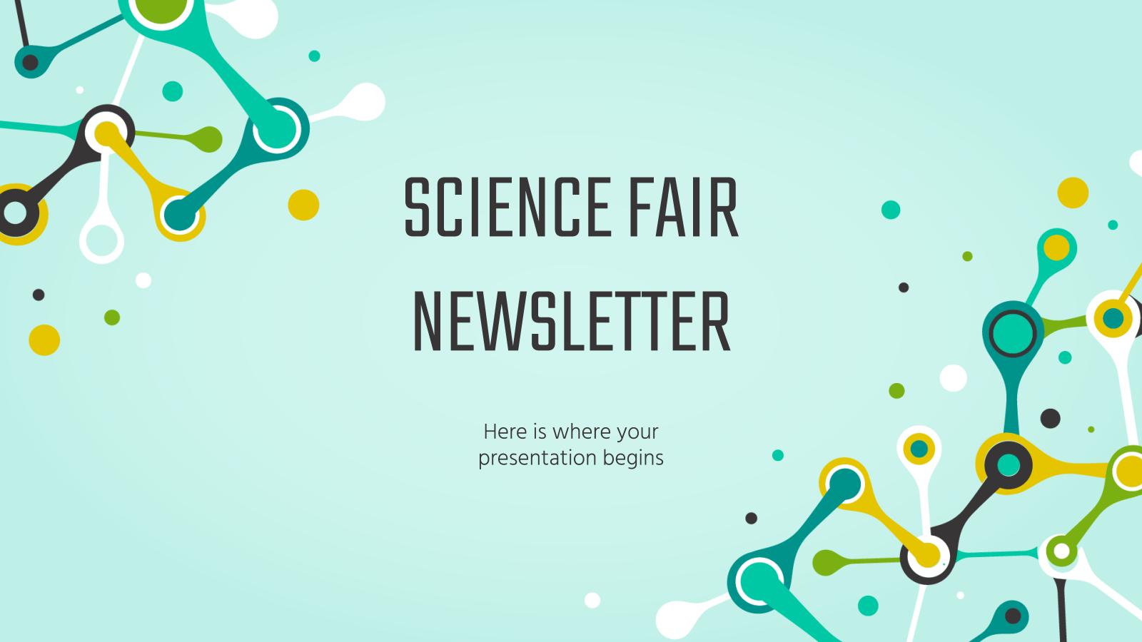 Science Fair Newsletter presentation template