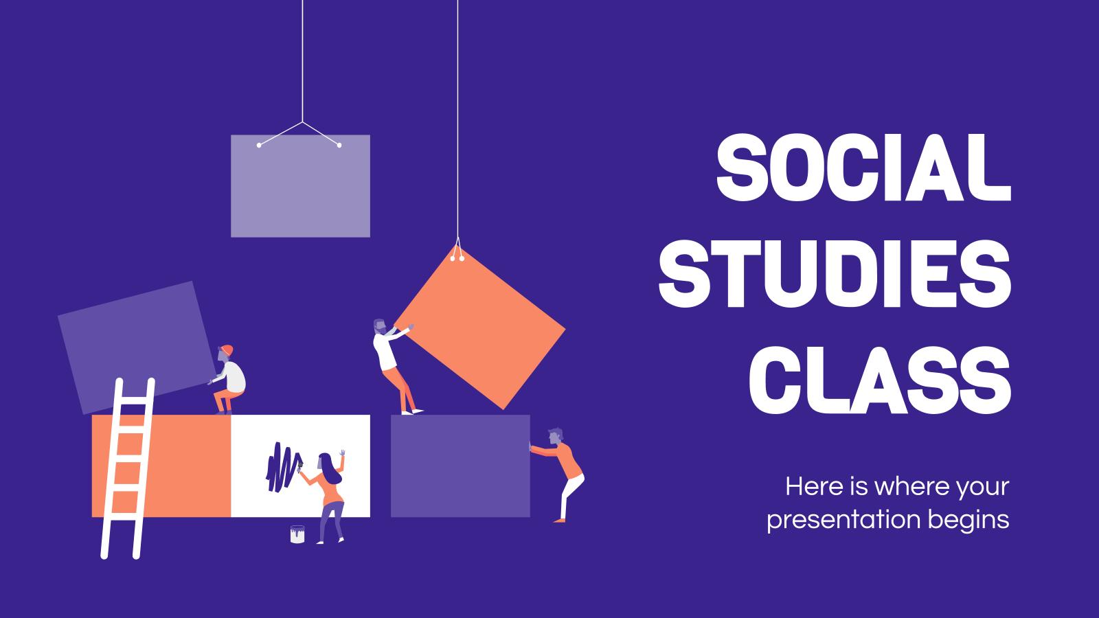 Social Studies Class presentation template
