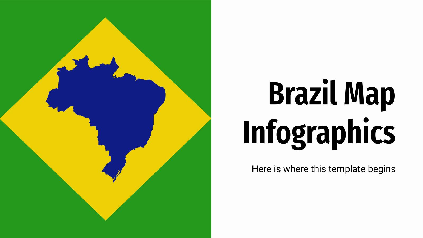 Infographies de la carte du Brésil : Modèles de présentation