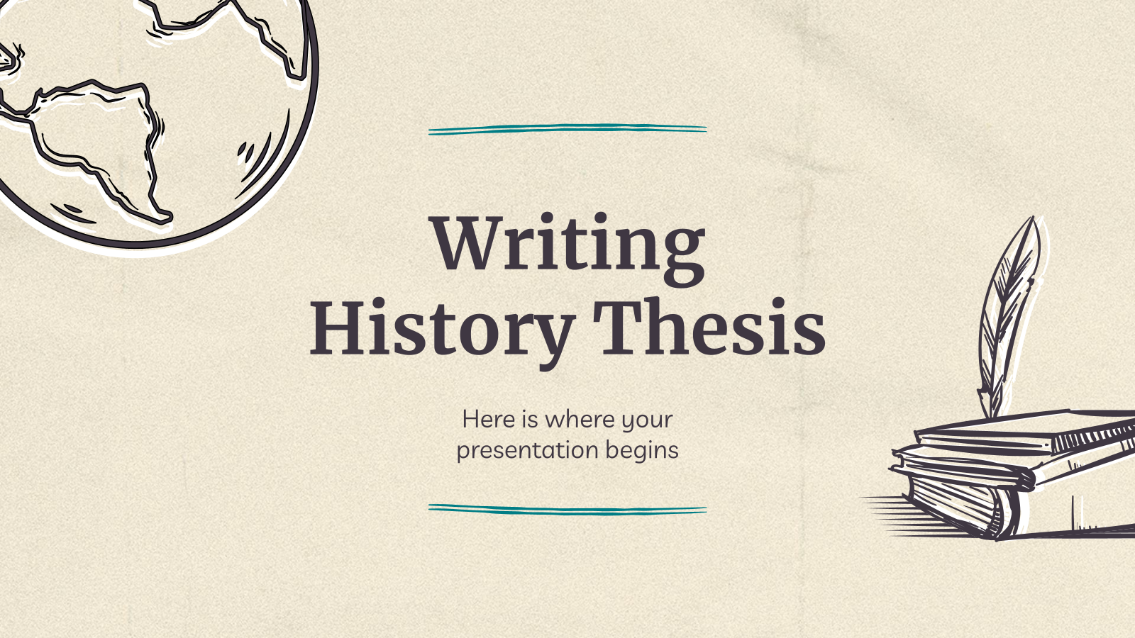 Writing History Thesis presentation template