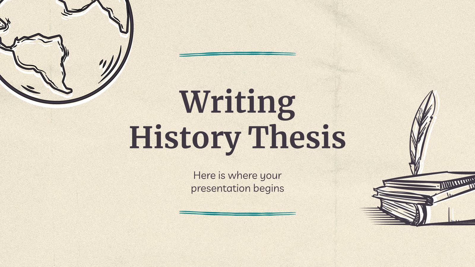 Thèse d'histoire : Modèles de présentation