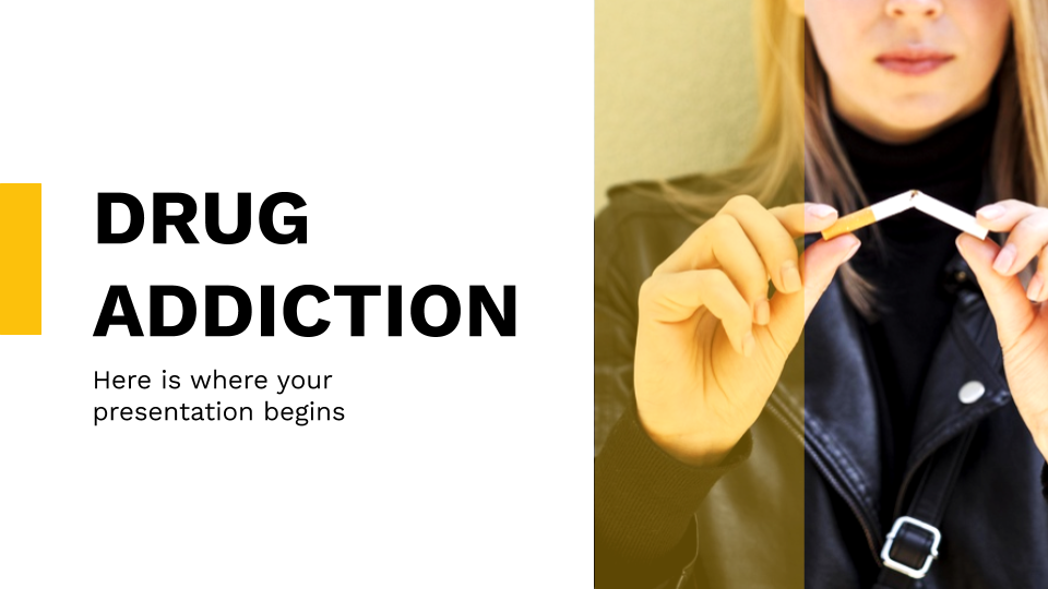 Drug Addiction presentation template