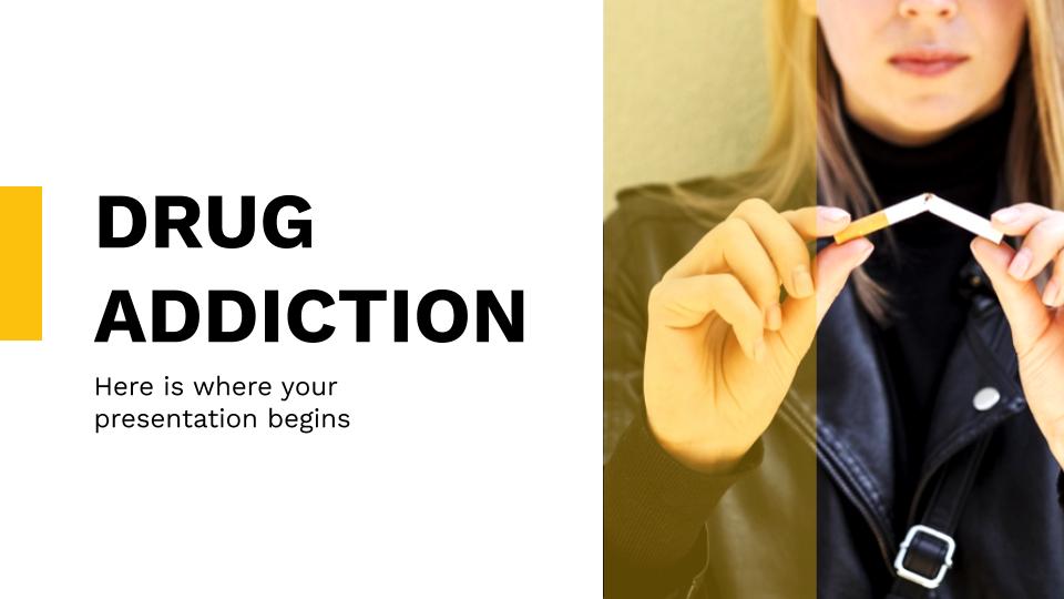 Plantilla de presentación Adicción a las drogas
