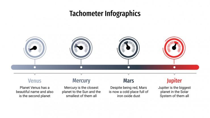 Plantilla de presentación Infografías tacómetro