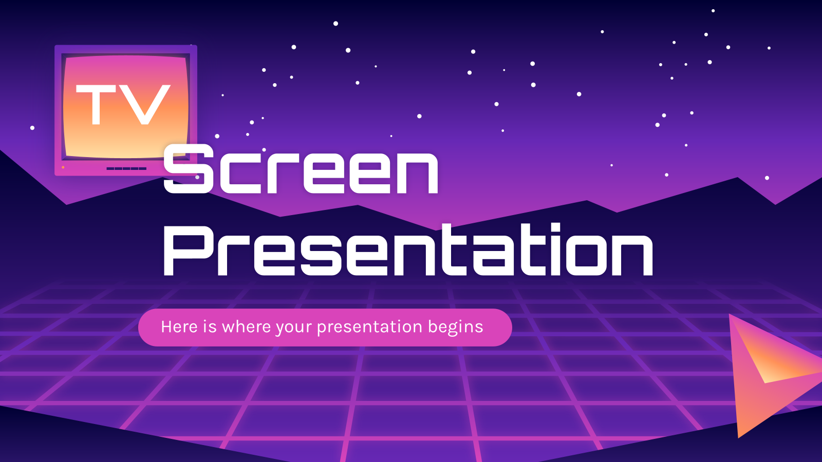 TV screen presentation presentation template