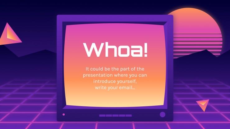 Plantilla de presentación Pantalla de TV