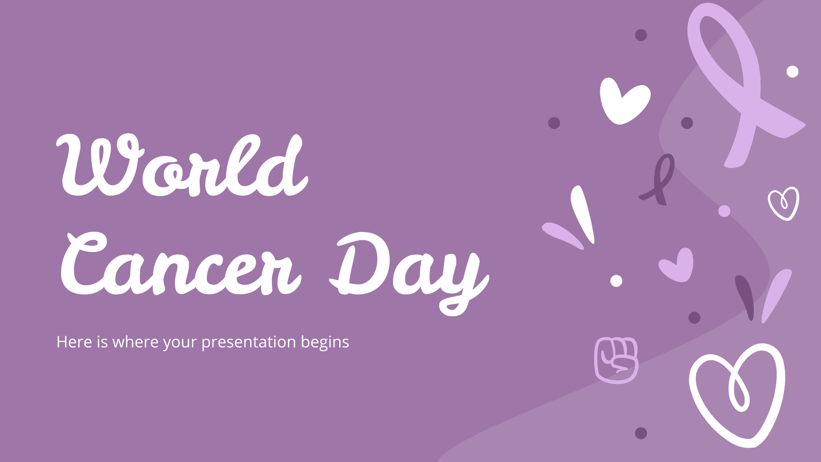 World Cancer Day presentation template