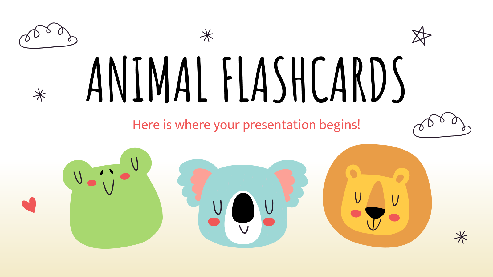 Animal Flashcards presentation template