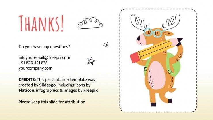 Animal Flashcards presentation template