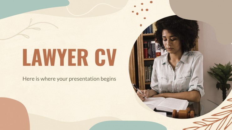 Lawyer CV presentation template
