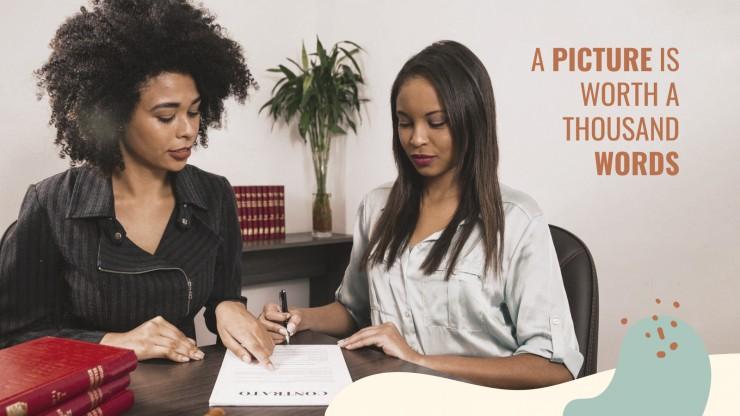 Anwalt CV Präsentationsvorlage