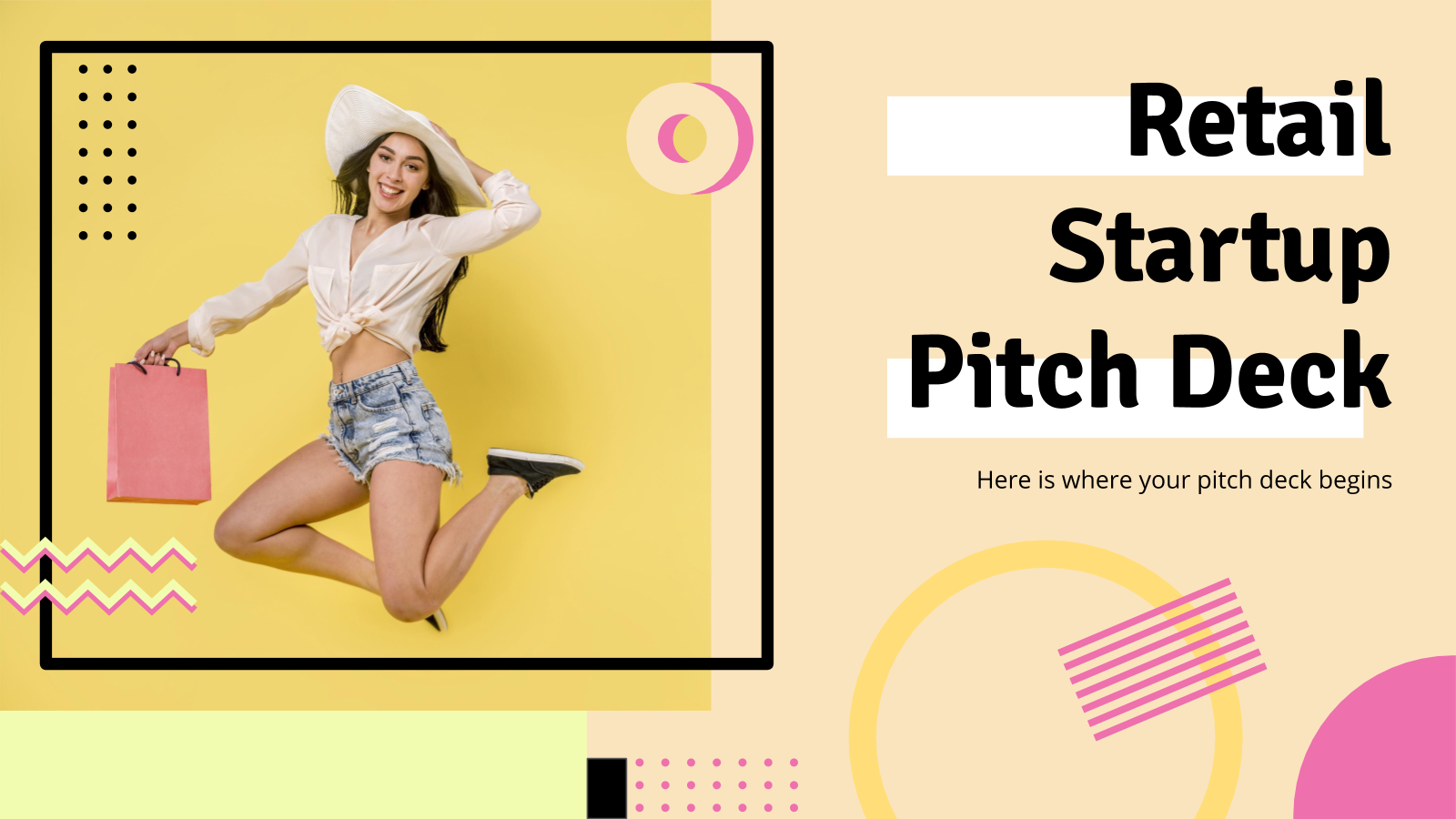 Plantilla de presentación Pitch deck para startup de venta online