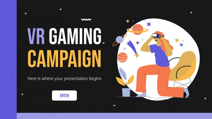 VR Gaming Campaign presentation template