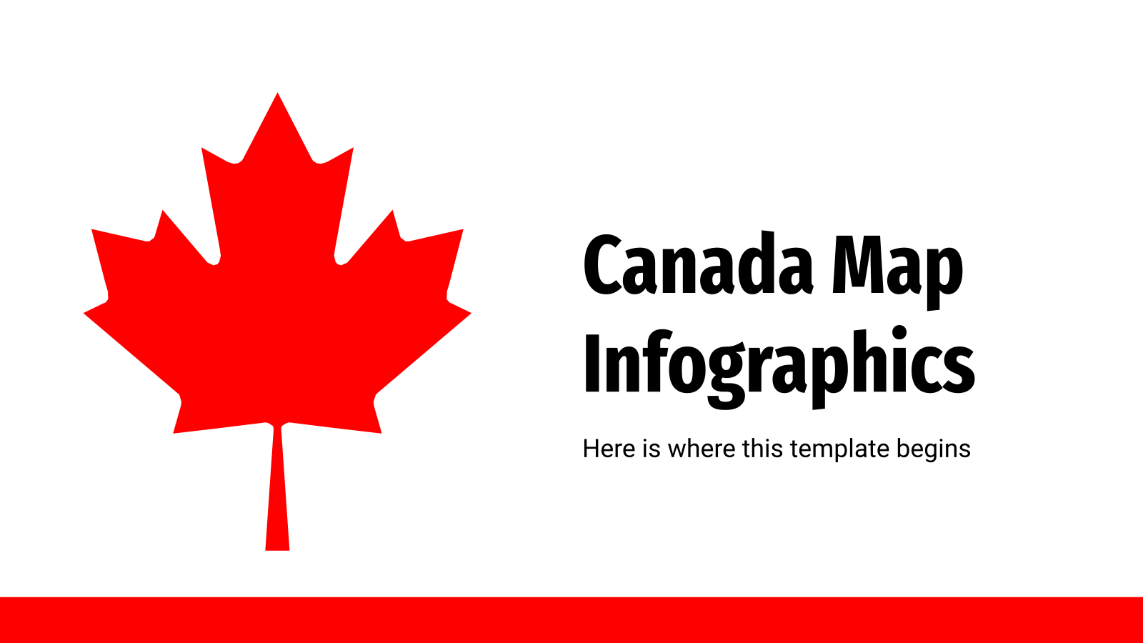 Canada map infographics presentation template