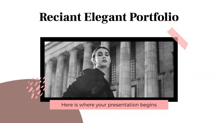 Modelo de apresentação Portfólio elegante Reciant