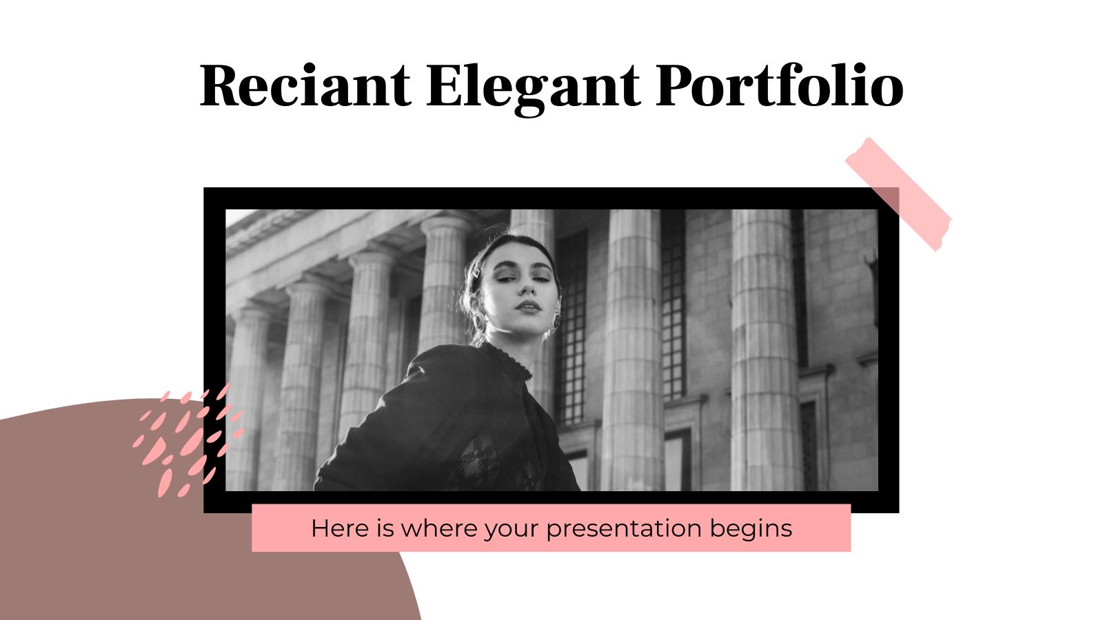 Reciant Elegantes Portfolio Präsentationsvorlage