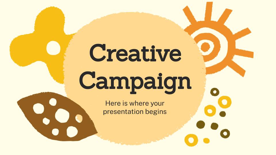 Modelo de apresentação Campanha criativa