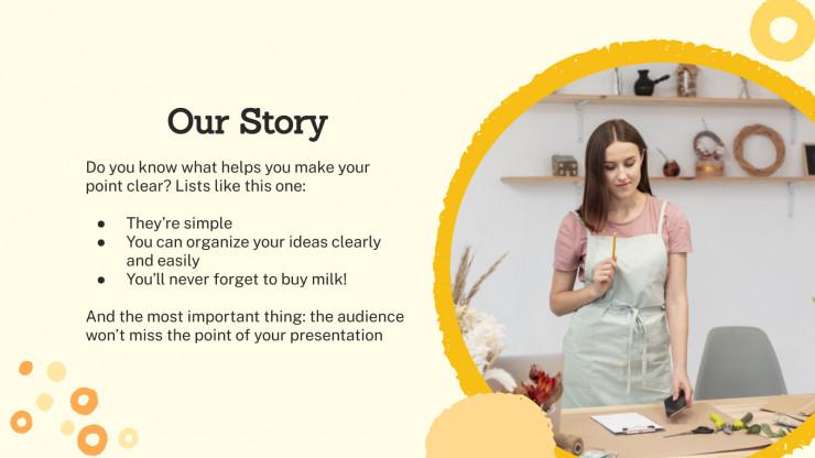 Plantilla de presentación Campaña creativa