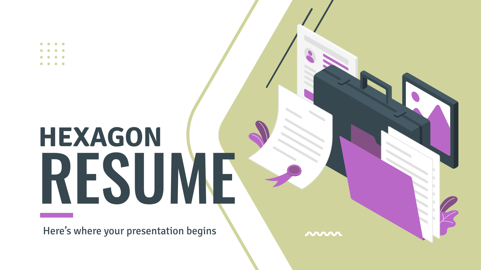 Hexagon Resume presentation template