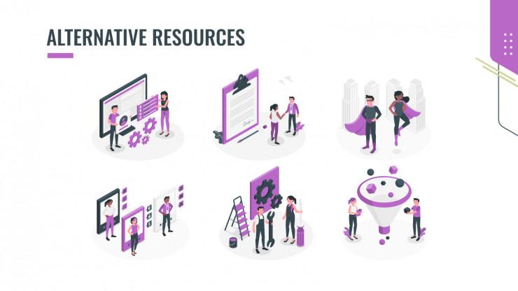 Hexagon Resume presentation template