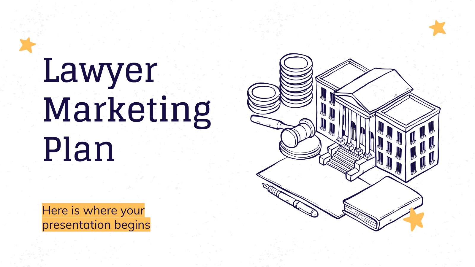 Lawyer Marketing Plan presentation template