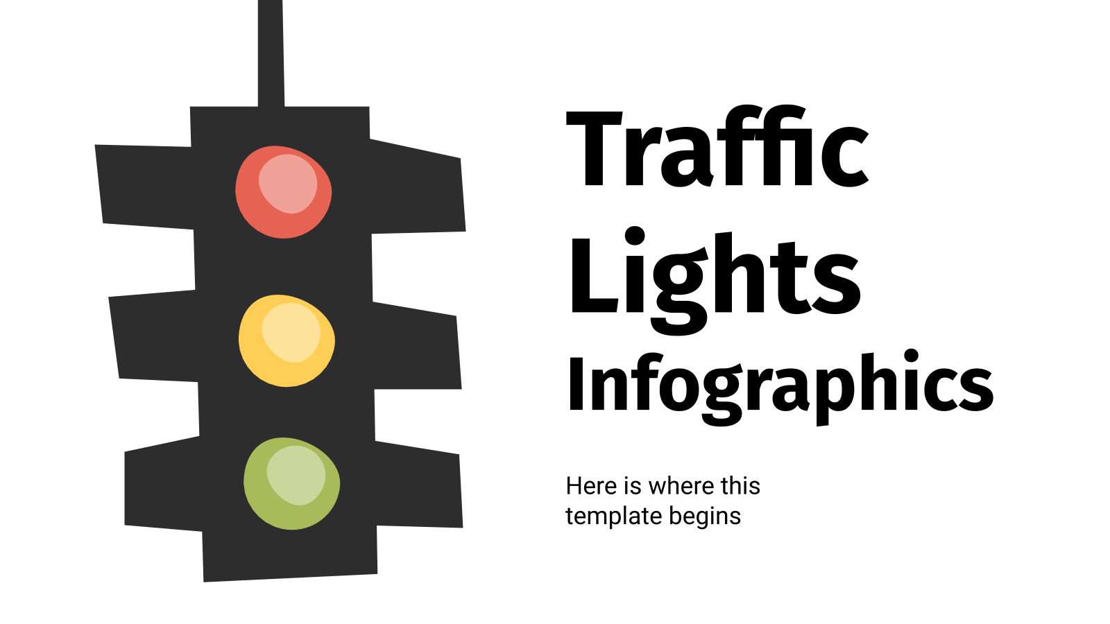 Traffic Lights Infographics presentation template