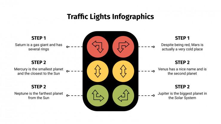 Modelo de apresentação Infográficos de semáforos