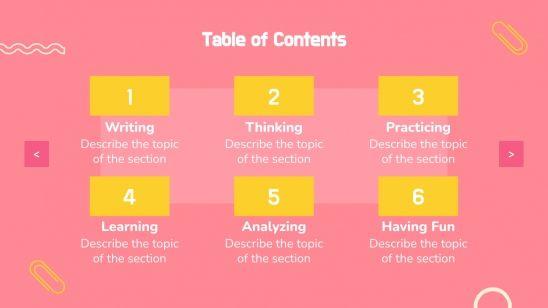 Junive Daily activities presentation template