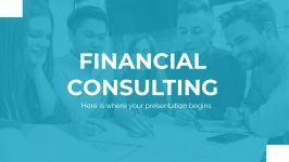 Plantilla de presentación Consultora financiera