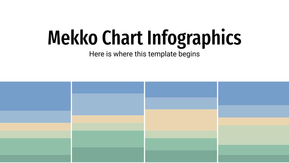 Plantilla de presentación Gráficos Mekko