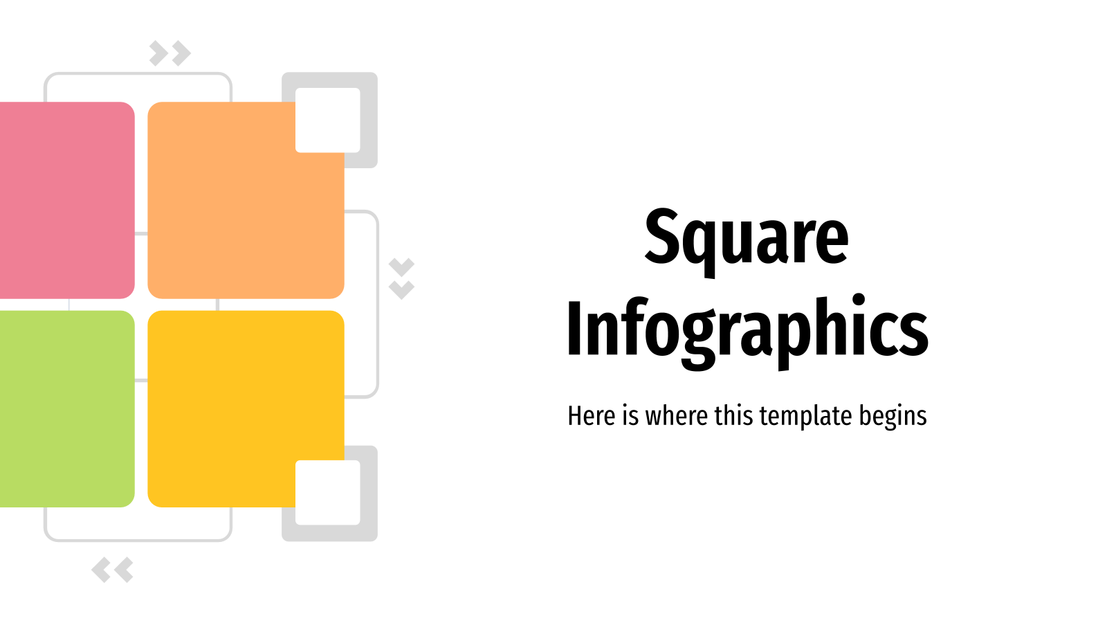 Square Infographics presentation template