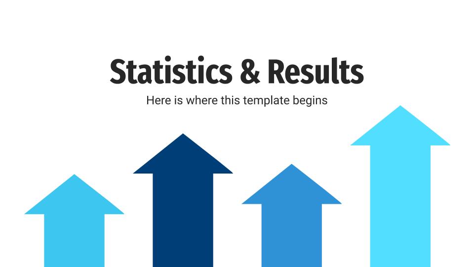 Plantilla de presentación Estadísticas y resultados
