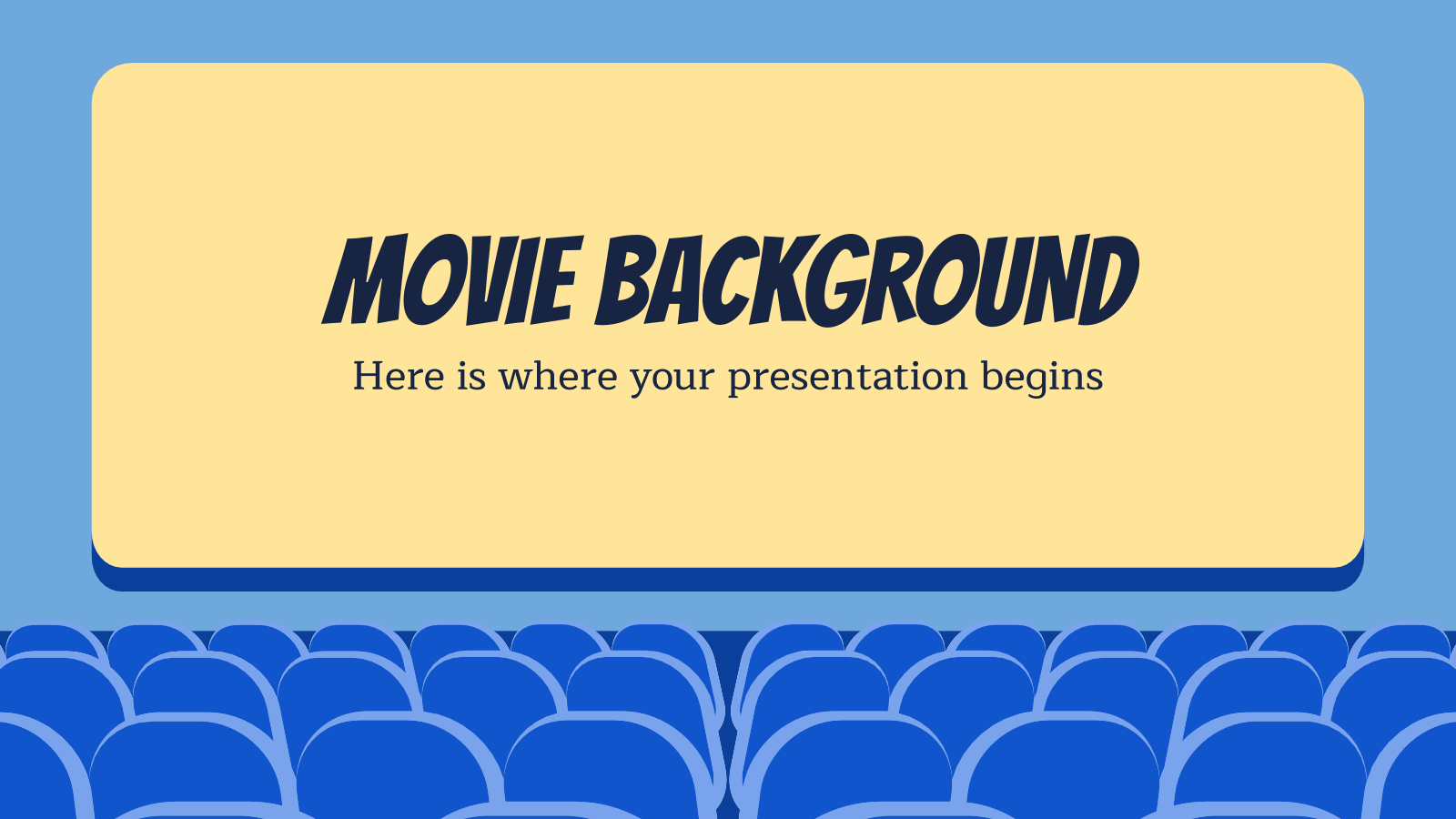 Modelo de apresentação De cinema