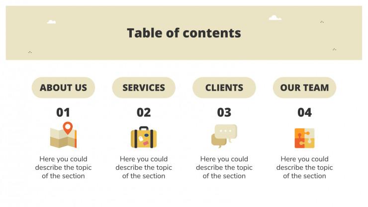 Rural Holidays Agency presentation template