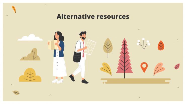 Plantilla de presentación Agencia de turismo rural