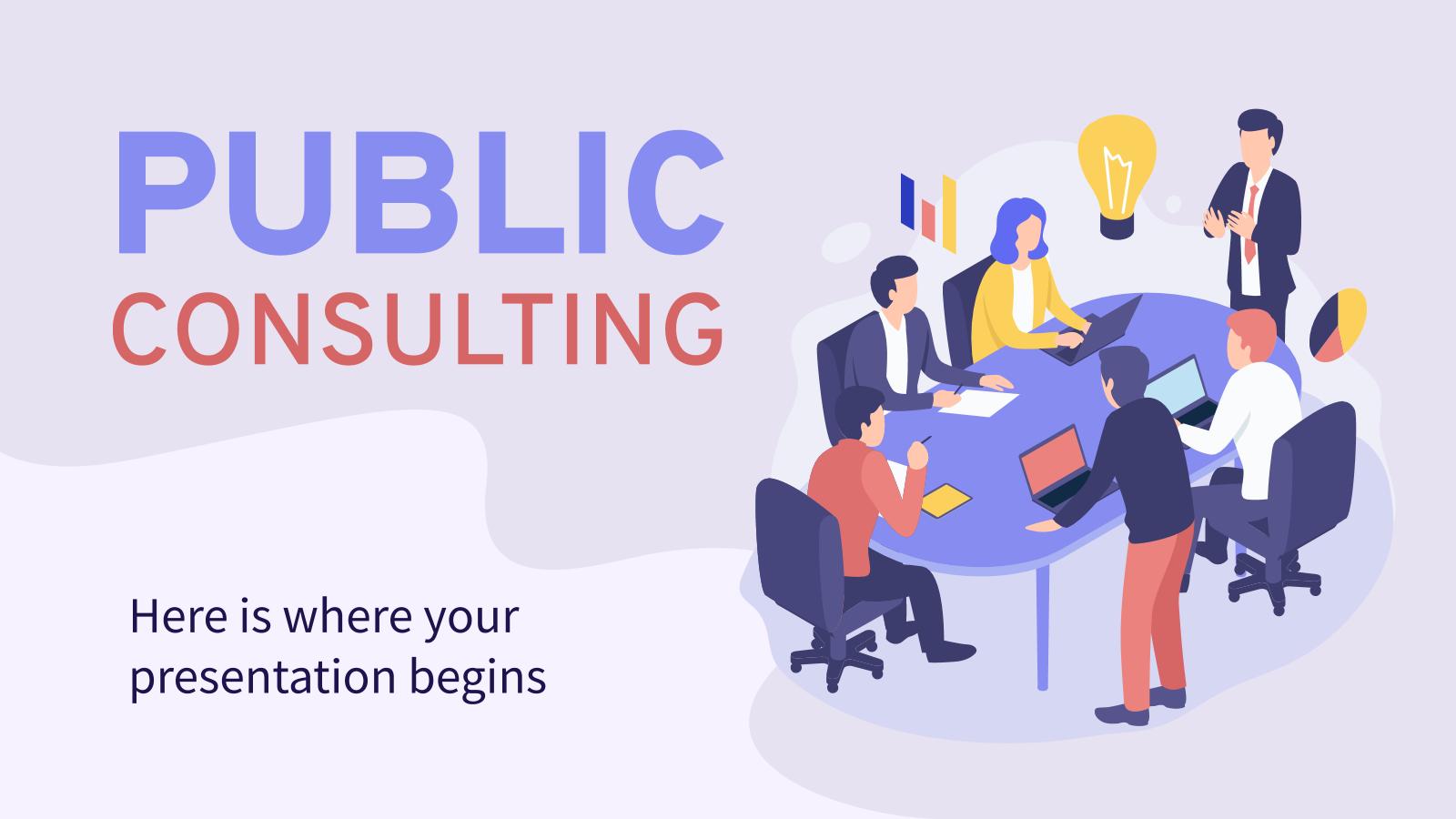 Plantilla de presentación Consultores públicos