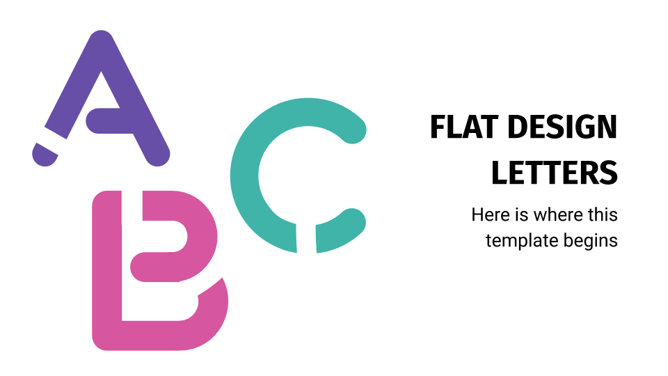 Flat Design Letters presentation template