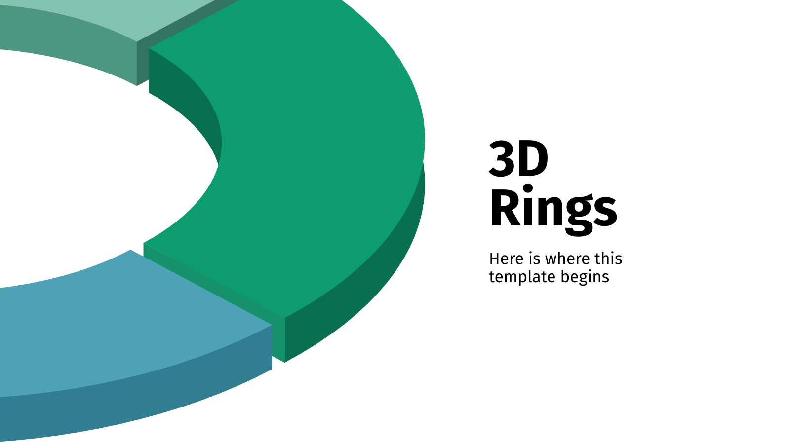 3D Rings presentation template