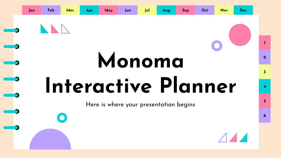 Plantilla de presentación Agenda interactiva Monoma