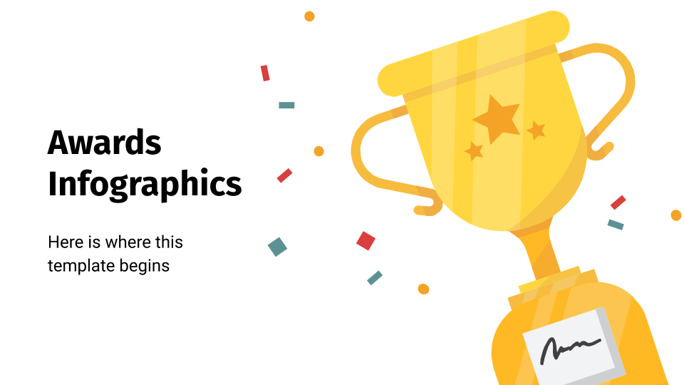 Awards Infographics presentation template